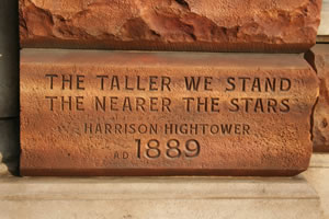 THE TALLER WE STAND THE NEARER THE STARS